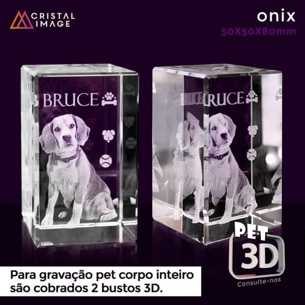 cristal cachorro 3D